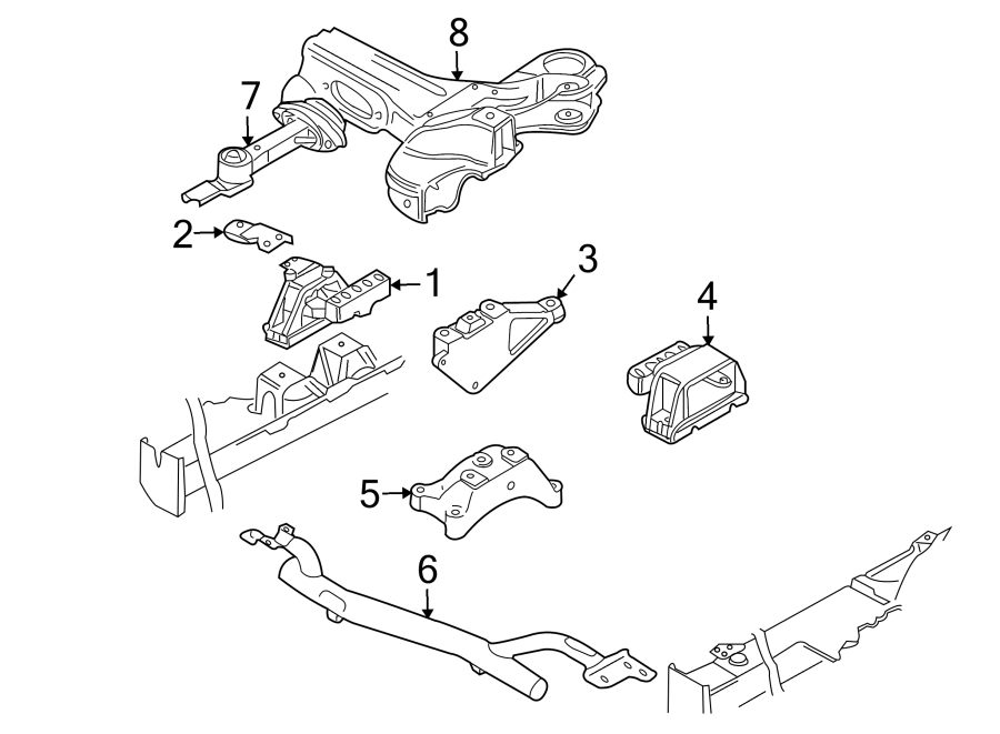 Audi TT Bracket. Support. Mount. Transmission. Engine
