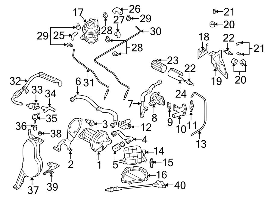 2006 Audi TT Connector hose. Evaporative Emissions System