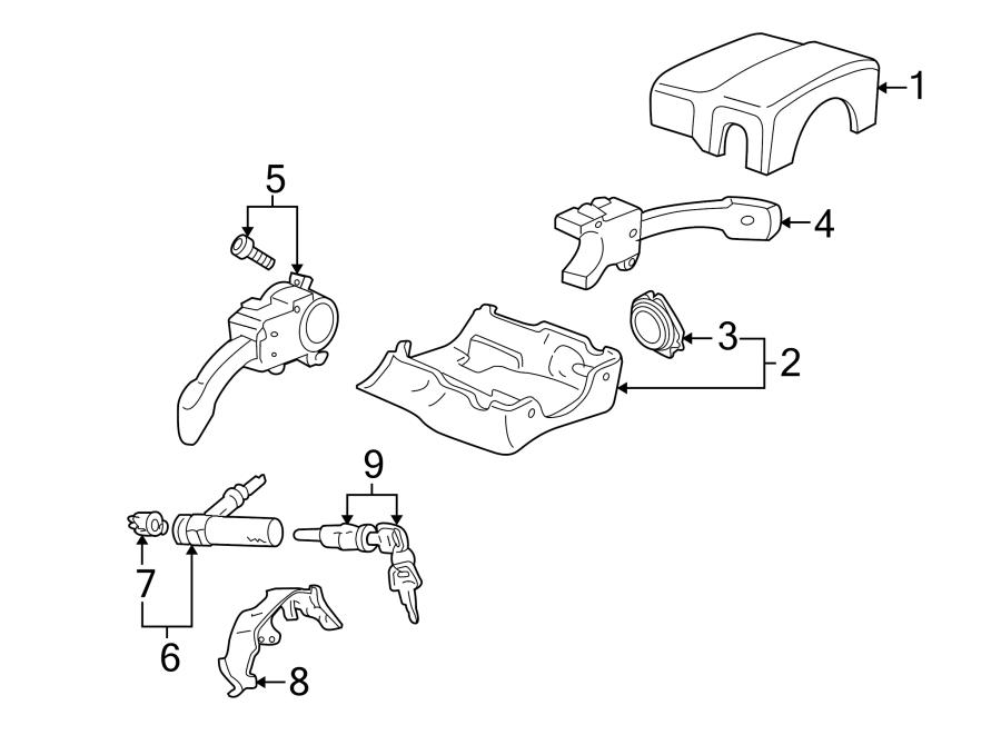 Audi TT Grommet. Lock. Cover. Steering. Column. (Lower
