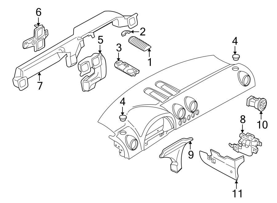 2004 Audi TT Base Coupe 3.2L V6 A/T Quattro Dashboard Air