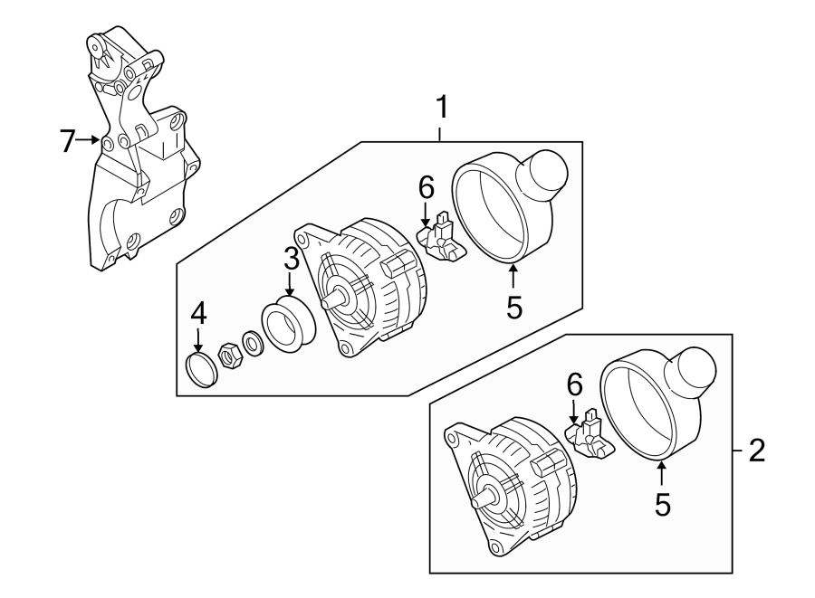 2008 Audi Alternator Adjusting Bracket. Mount Bracket