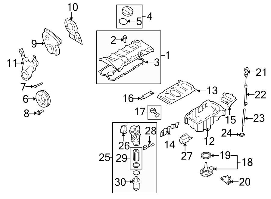 Audi TT Engine Harmonic Balancer Bolt. 2007-08. 2009 W/O