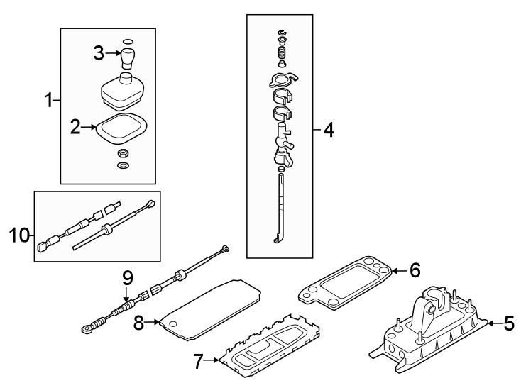 2012 Audi Manual Transmission Shift Lever Gasket. CONSOLE