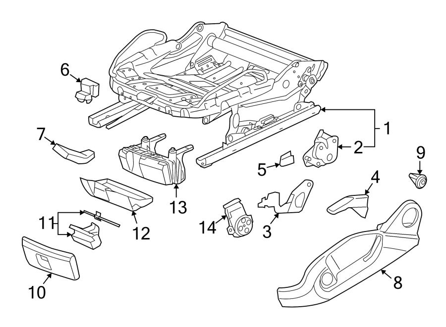 Audi TT Adjust. Knob. Handle. Lever. SEAT CUSHION