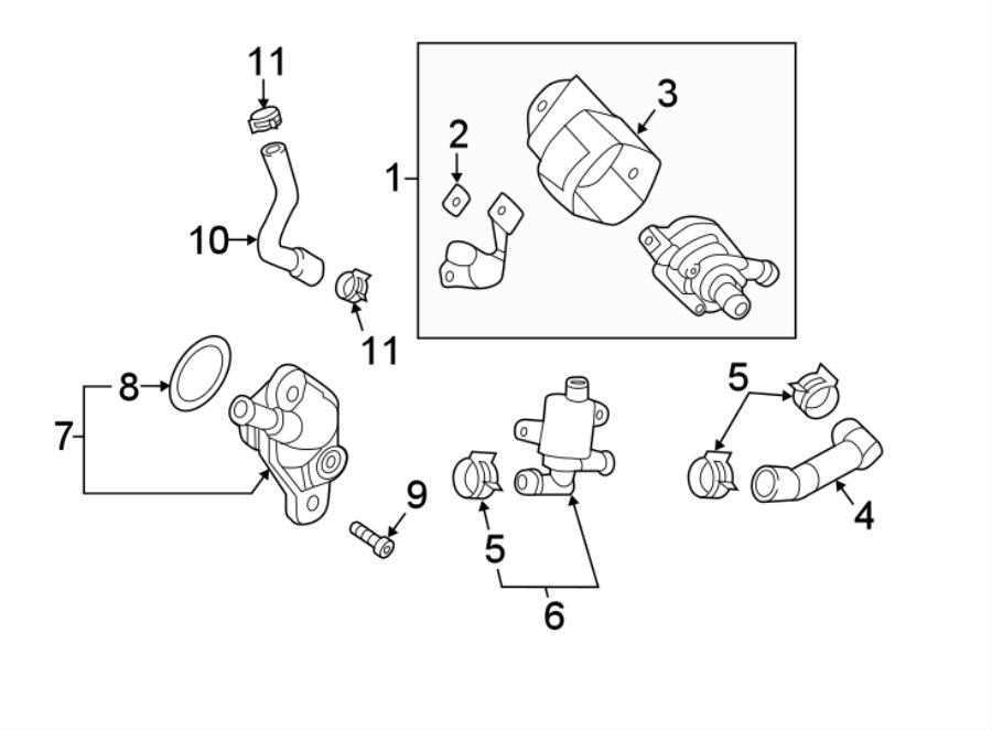 2016 Audi TT Engine Auxiliary Water Pump. CNTB, Pierburg