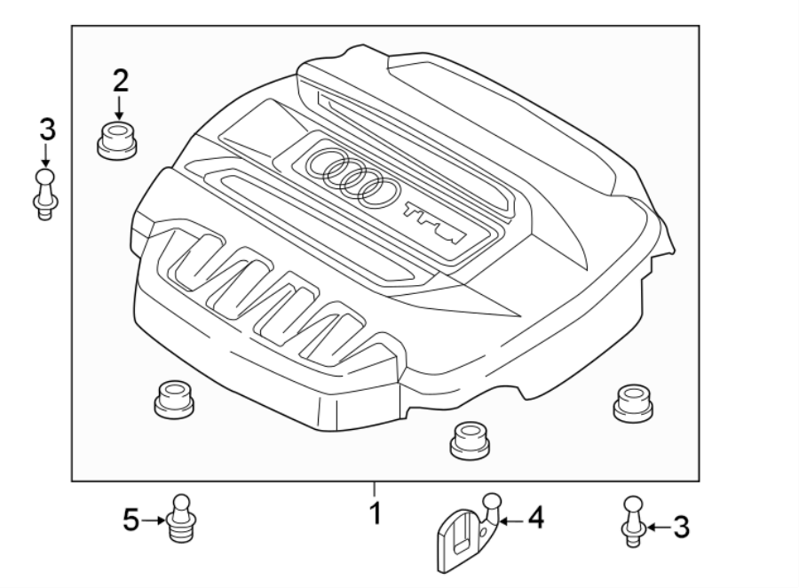 Audi TT Engine cover. LITER, CONVERTIBLE, TRANSAXLE