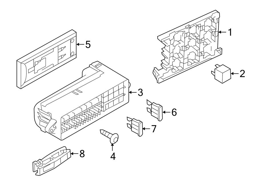 2016 Audi Fuse box main. Holder. COMPARTMENT, BODY