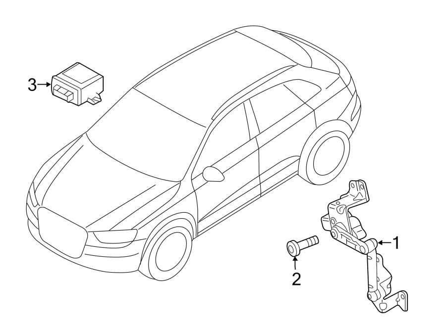 Audi Q3 Headlight Level Sensor (Rear). Suspension, Model