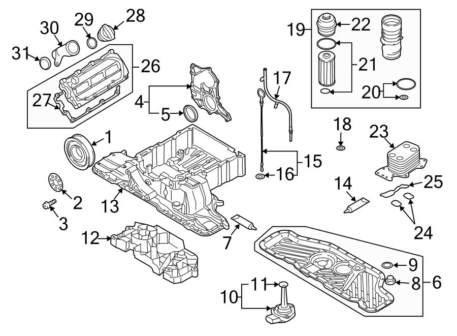 Audi Q7 Engine Oil Cooler. LITER, DIESEL, Heat