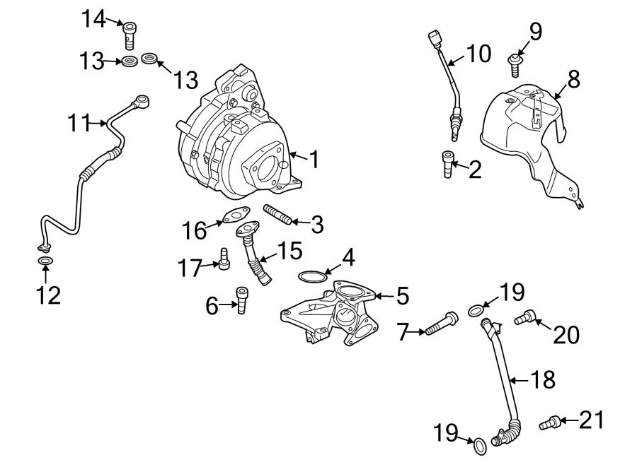 Audi Q7 Exhaust Gas Temperature (EGT) Sensor. TURBOCHARGER