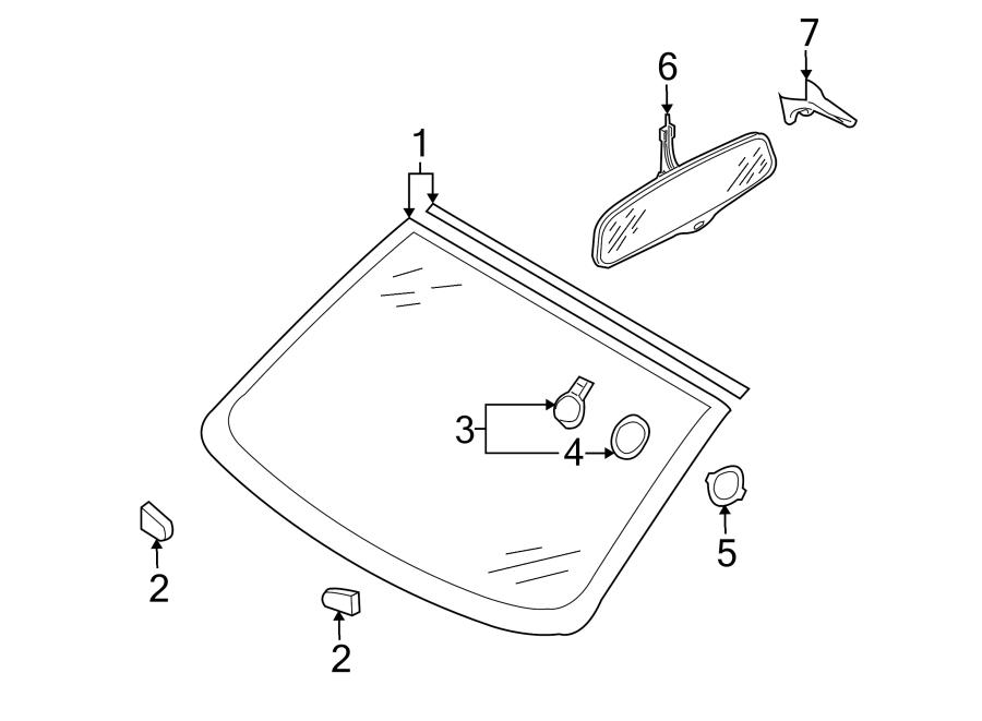 2007 Audi Q7 Rain Sensor. CONVERTIBLE, to 12/14/2014. Q7