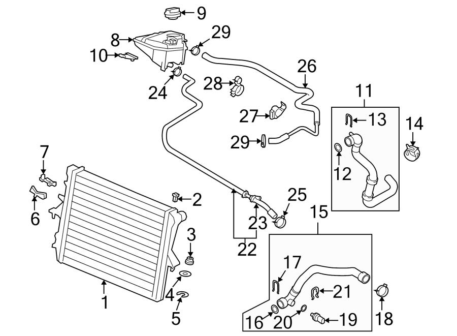 2015 Audi Cover. Engine coolant reservoir cap. Radiator