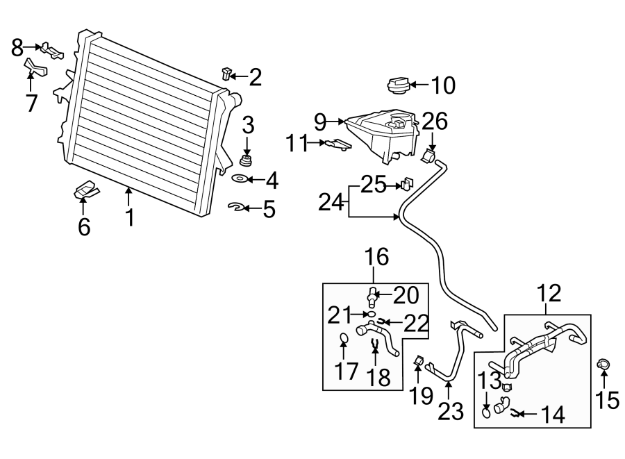 Audi Q7 Engine Coolant Pipe. 3.6 LITER. Q7; 3.6L. COOLING