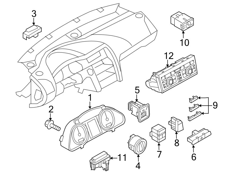 Audi Q7 Hvac temperature control panel. Q7; w/heated seats