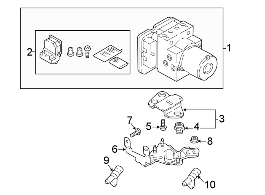 Audi Q7 Abs control unit. Abs unit w. W/o adaptive cruise