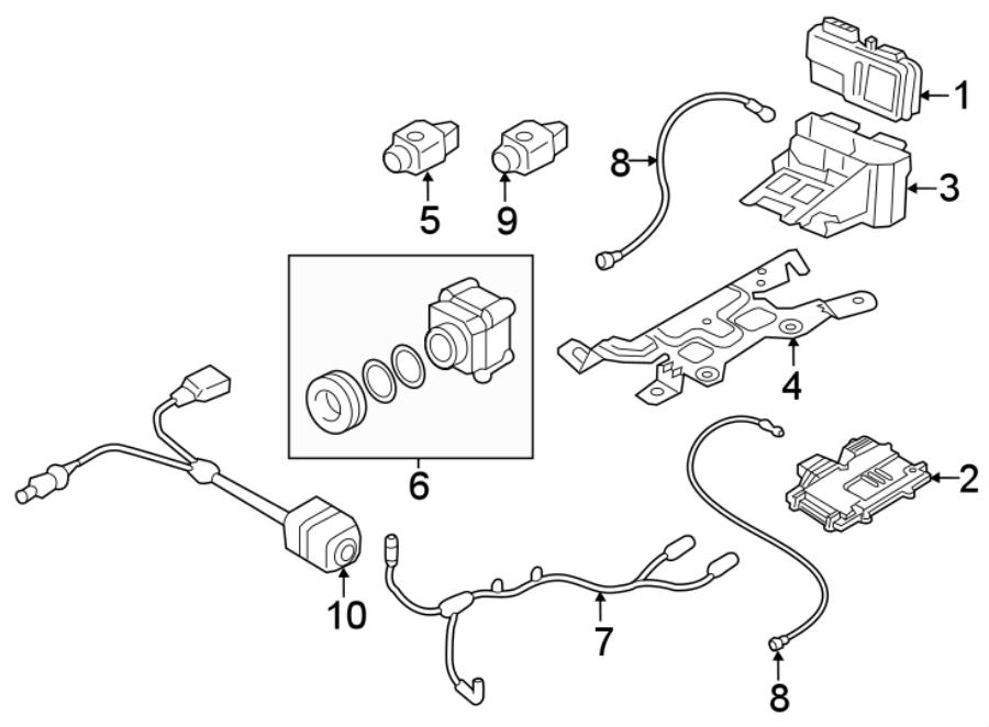 2017 Audi Q7 Camera harness. Wire harness. CAMERA SYSTEM