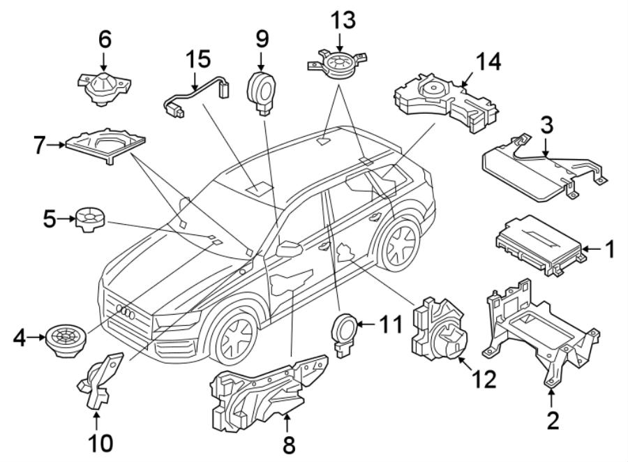 2018 Audi Q7 Radio Amplifier. SPEAKERS & AMPLIFIERS, w