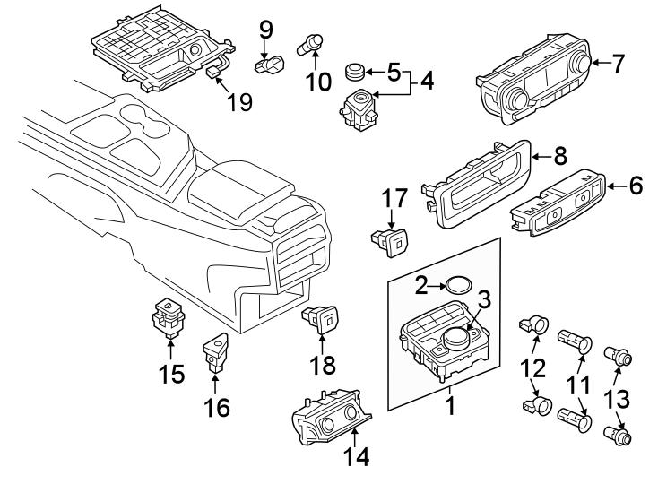 2017 Audi Q7 12 volt accessory power outlet cover (rear