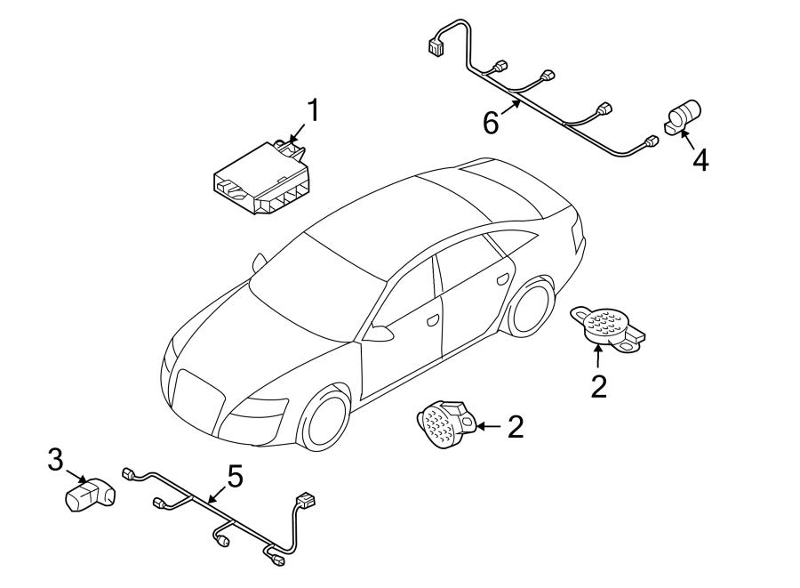 Audi Q5 Parking Aid Control Module. SYSTEM, MODULES