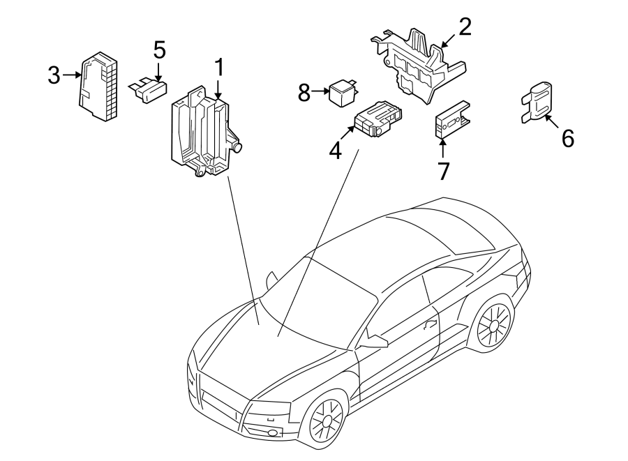 Audi Q5 Relay. Audi; Volkswagen. COMPARTMENT, Location