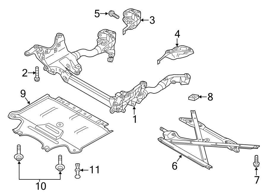 2009 Audi Radiator Support Splash Shield (Front, Rear