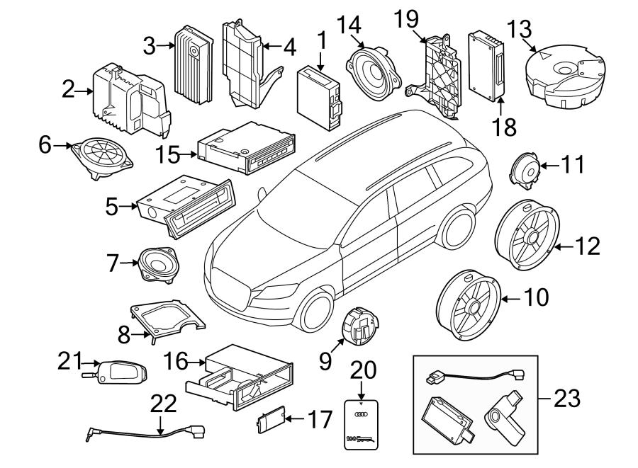 2017 Audi Q5 Bracket. Control. Module. Mount. Parking Aid