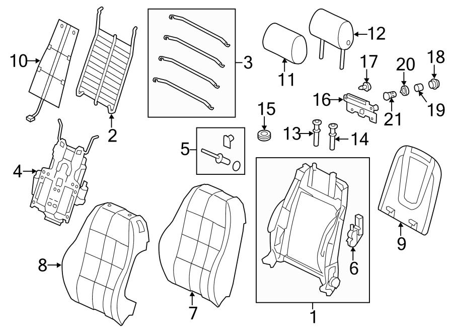 2016 Audi Q5 Seat Back Cushion. SEAT BACK COMPONENTS, w