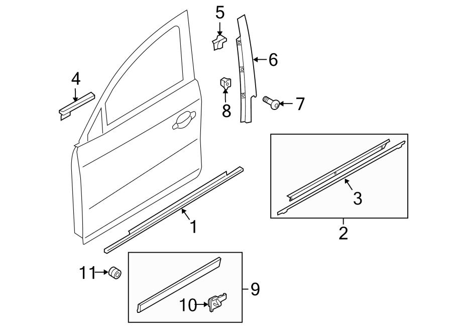 Audi Q5 Door Window Belt Weatherstrip. Molding, Outer