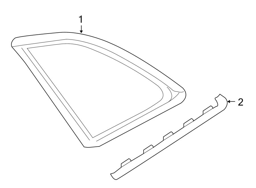 2014 Audi Q5 Molding. Chrome. Glass, Panel, Quarter