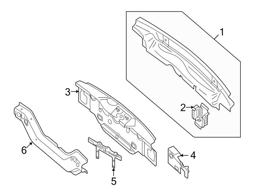 Audi Q5 Rear Body Reinforcement Plate (Rear). Body