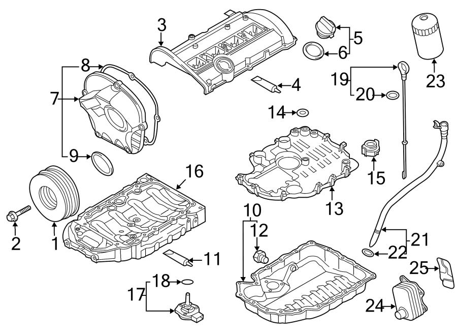 2014 Audi Q5 Engine Oil Dipstick Tube Cap. Tube plug