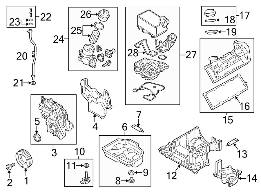 2015 Audi Q5 Engine Coolant Thermostat Kit. Engine Oil