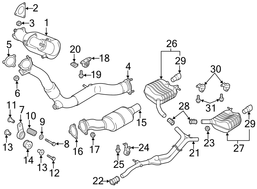 Audi Q5 Catalytic Converter. Pipe. Converter. Catalytic