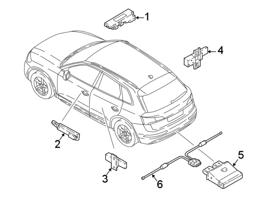 2018 Audi Keyless Entry Antenna. Rear, Door, Apron
