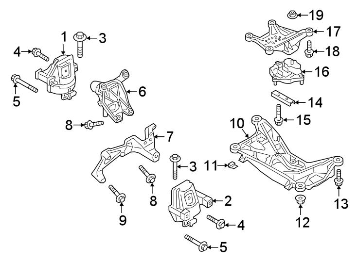 2018 Audi Bolt. Mount. Motor. Engine. Support. CYMC, DBPA