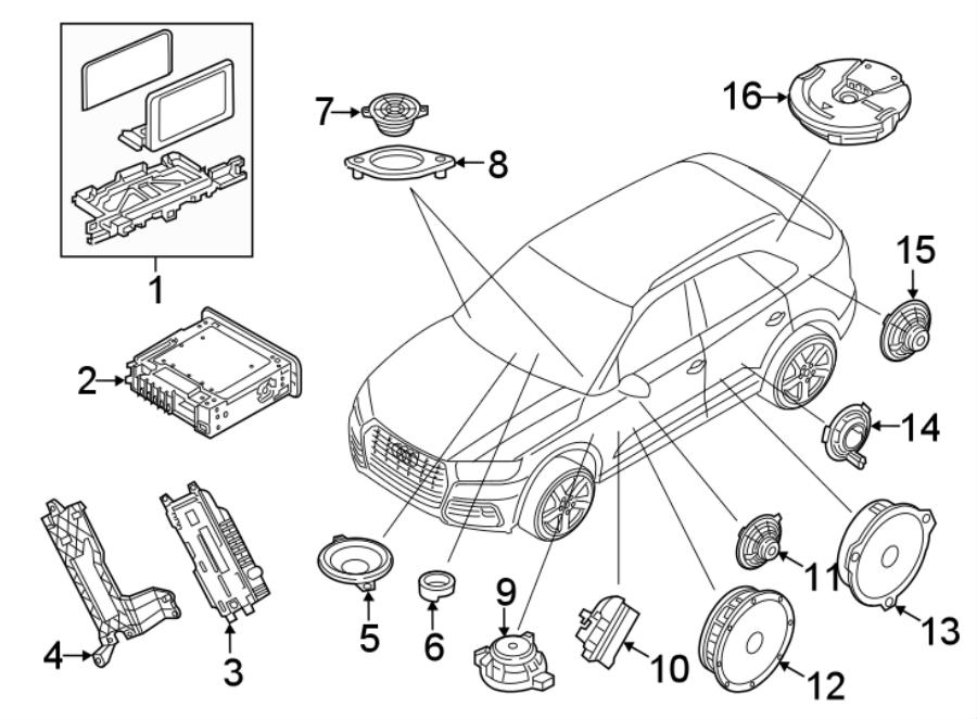 2018 Audi Q5 Gps navigation system. 8.25. Q5. Sq5. Unit