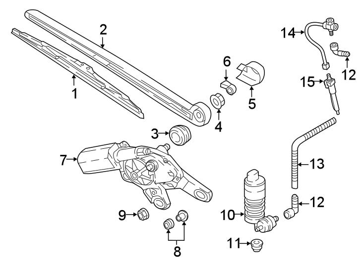 Audi Q5 Pump. Washer. Components, wiper, windshield