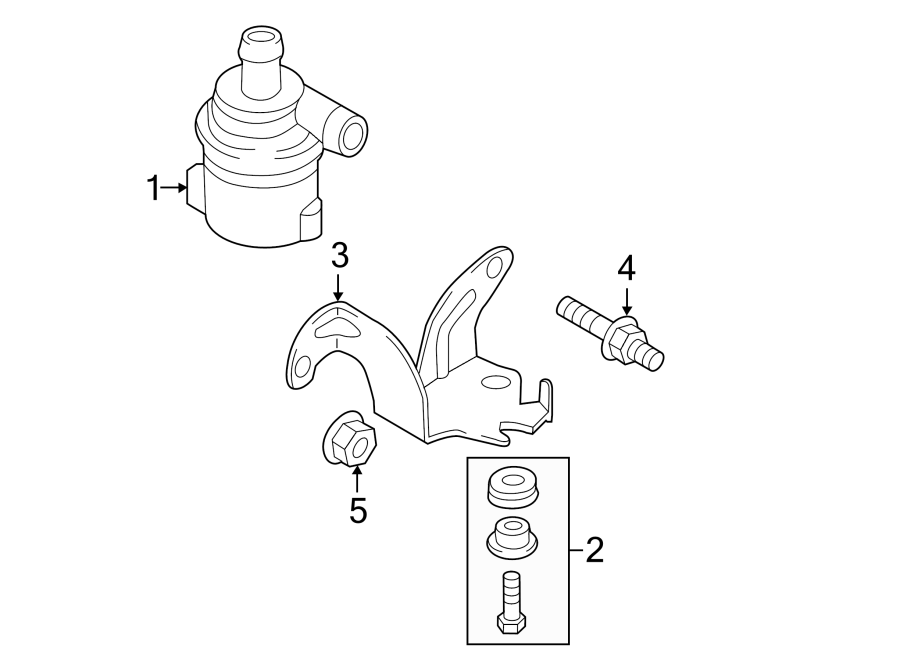 2015 Audi Engine Auxiliary Water Pump. LITER, COOLING
