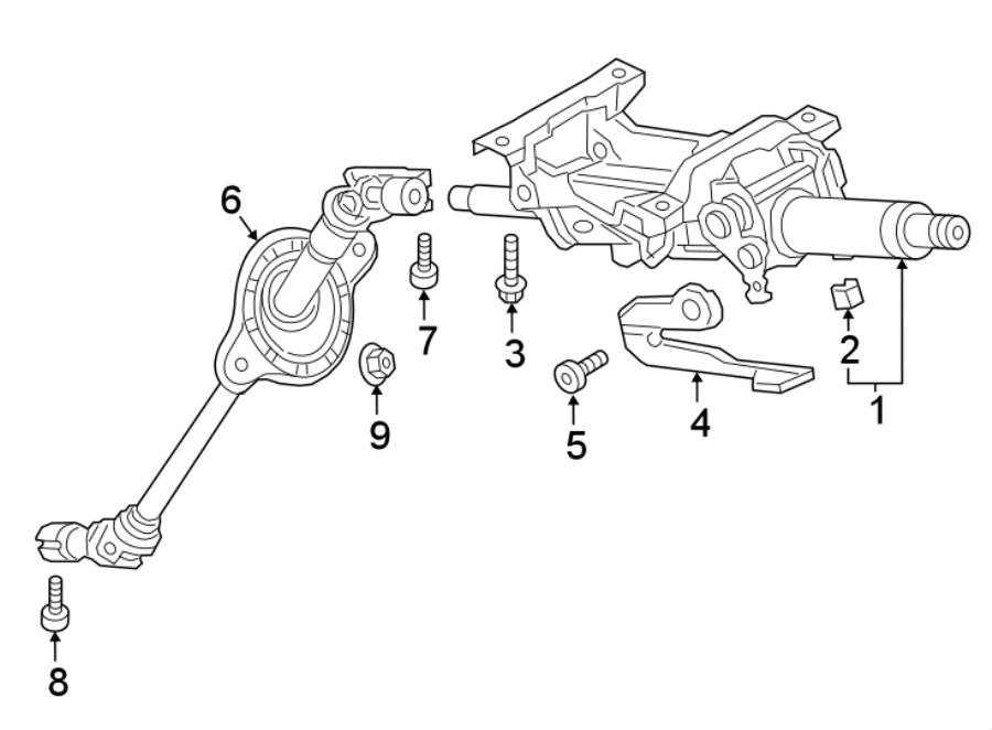Audi A4 allroad Steering Shaft (Lower). Dynamic, WDynamic