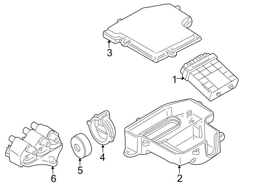 Audi A4 Cover. ECM. Engine Control Module. Fuse Box. Under