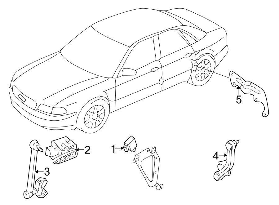 Audi A4 Sensor. (Front, Rear). Control, RANGE, HEADLIGHT