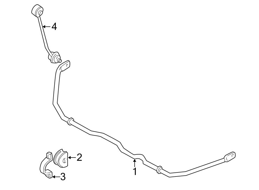 2000 Audi A4 Suspension Stabilizer Bar Bracket