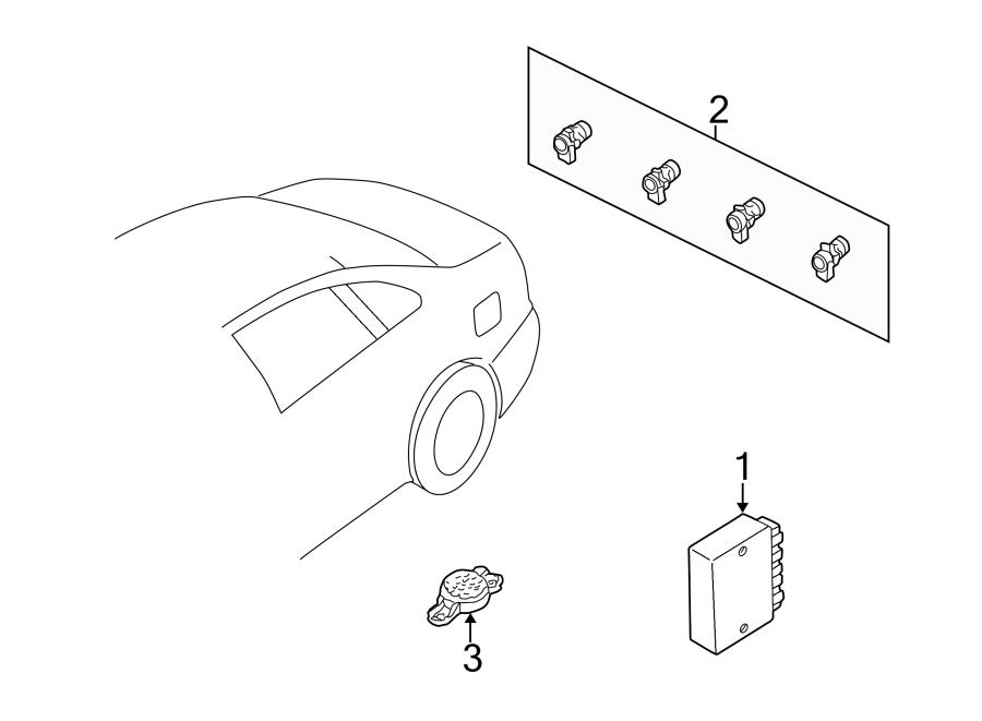 Audi A4 Parking Aid Control Module. REVERSE PARKING SYSTEM