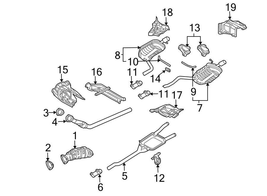 Audi A4 Clamp. Muffler. Exhaust. Resonator. (Front). LITER