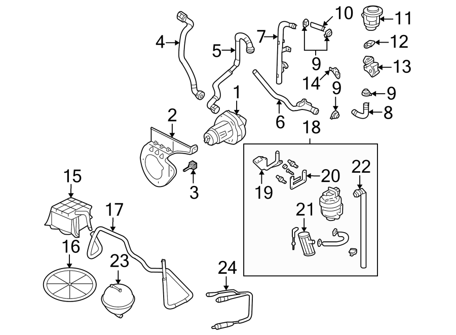 2005 Audi A4 Base Sedan 1.8L M/T Quattro Combination valve