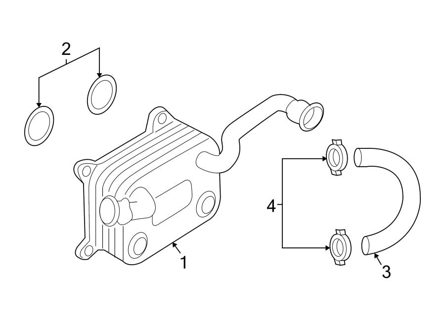 Audi allroad Engine Oil Cooler Gasket. Engine Oil Cooler O