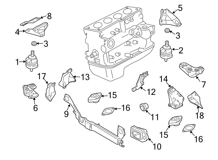 Audi A4 Automatic Transmission Mount. LITER, WQUATTRO
