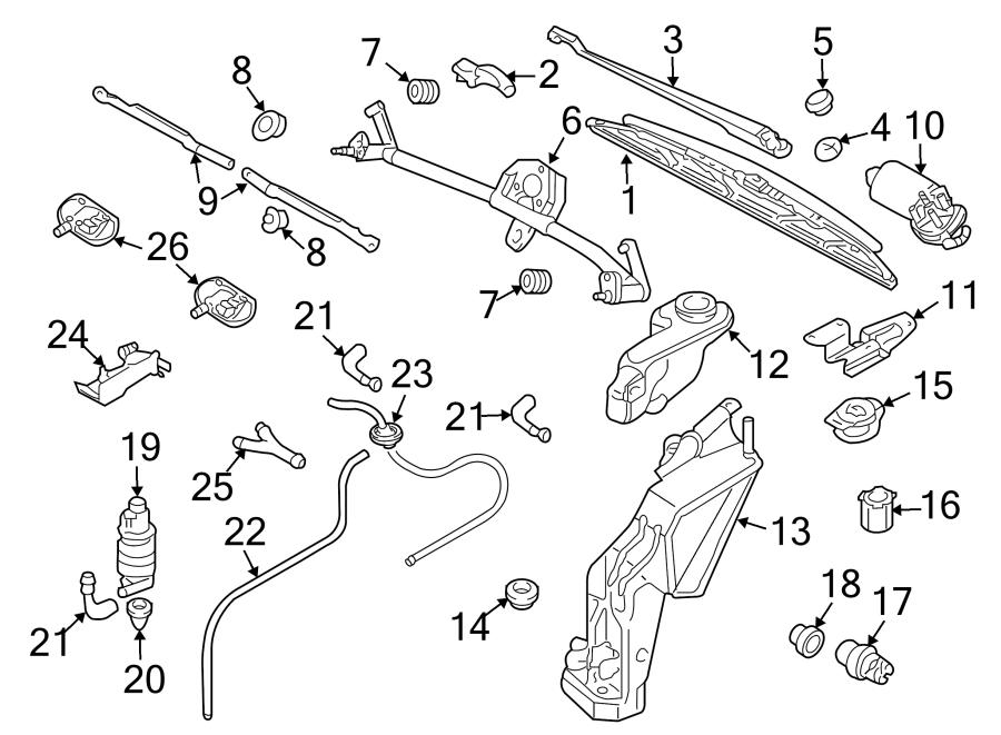 Audi S4 Windshield Washer Hose Grommet. Windshield Washer