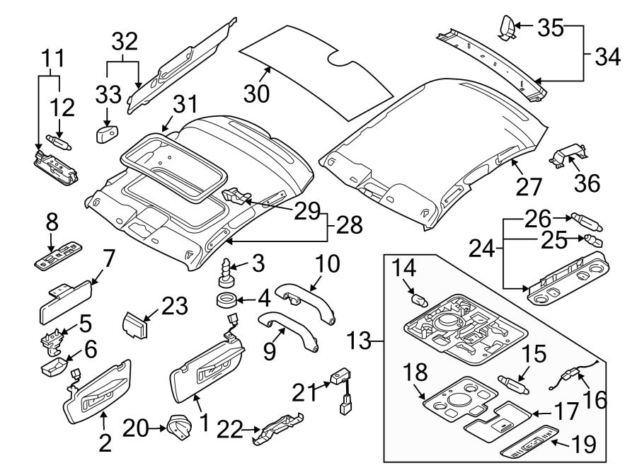 Audi A4 Bracket. Sun Visor Clip. Sun Visor Holder. Beige