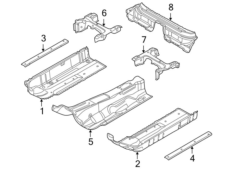2008 Audi A4 Floor Side Rail (Front). SEDAN, ROCKER, WagON